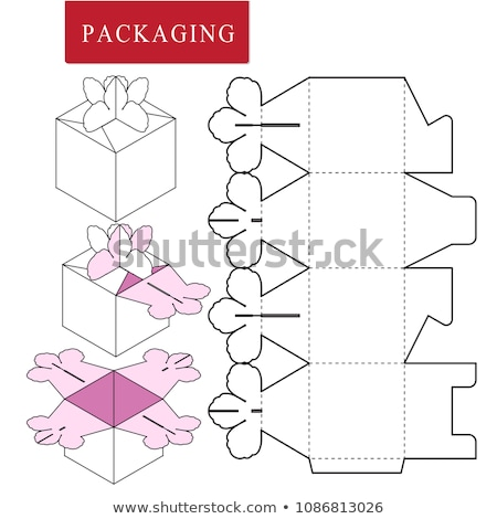 Papel flor envases grave Foto stock © pressmaster