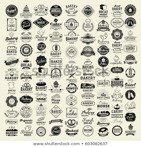 Bakkerij stickers illustratie brood kleur ontwerp Stockfoto © olegtoka