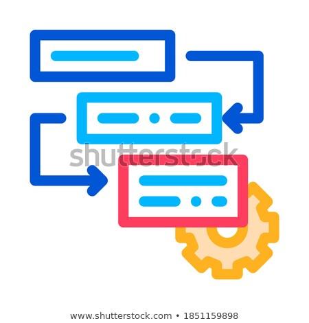 Viselet agilis alkotóelem vektor ikon vékony Stock fotó © pikepicture