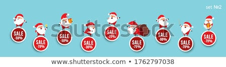 ストックフォト: ベクトル · クリスマス · コレクション · かわいい · サンタクロース
