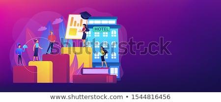 ホステル サービス バナー ヘッダ 安い 宿 ストックフォト © RAStudio