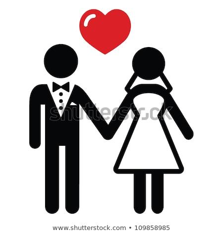 ślub człowiek kobieta oblubienicy pan młody ceremonia Zdjęcia stock © robuart