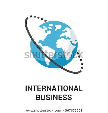 Grafiek presentatie internationale bedrijfsleven vector man vrouw Stockfoto © robuart
