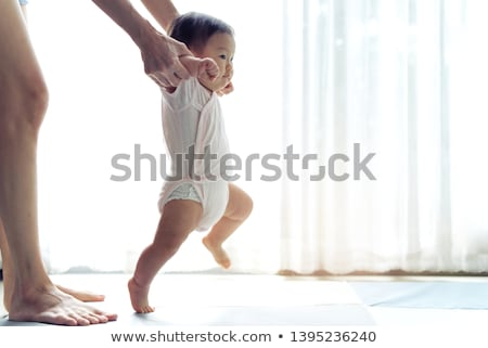 Stok fotoğraf: Asya · bebek · meraklı · kız · yüz · güzellik