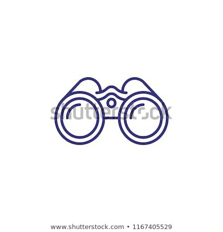 binocolo · icona · vettore · contorno · illustrazione · segno - foto d'archivio © pikepicture