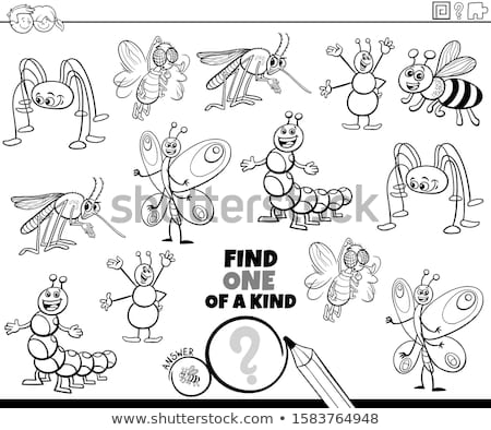 one of a kind game for children with funny insects Stock photo © izakowski