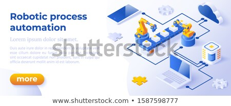 Rpa - Isometric Concept In Trendy Colors Innovation Technology Concept Foto stock © Tashatuvango