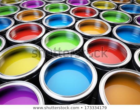 Open cans of paint, Creativity concept Stock photo © JanPietruszka
