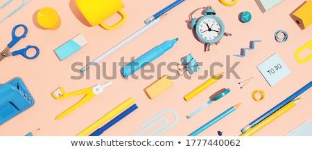 Banner szkoły biuro materiały biurowe kolorowy powrót do szkoły Zdjęcia stock © Illia