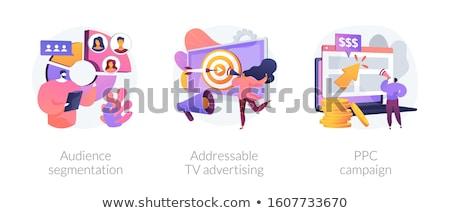 Médias sociaux comportement vecteur métaphores promotion Photo stock © RAStudio