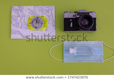 vektor · térkép · lencse · papír · út · üveg - stock fotó © get4net