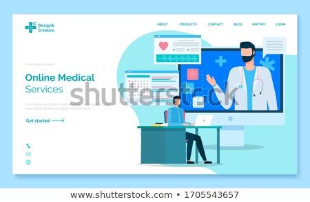 çevrimiçi tıbbi yardım web iniş sayfa Stok fotoğraf © robuart