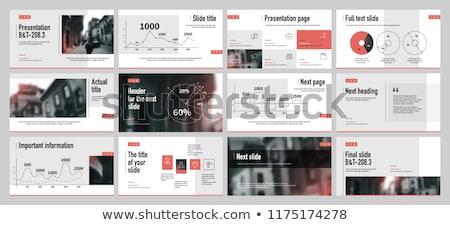 Rouge annuel rapport professionnels brochure modèle de conception Photo stock © SArts