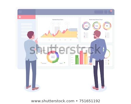работник развивающийся данные анализ графа вектора Сток-фото © robuart