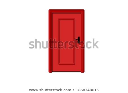 белый стены красный закрыто двери реалистичный Сток-фото © sedatseven