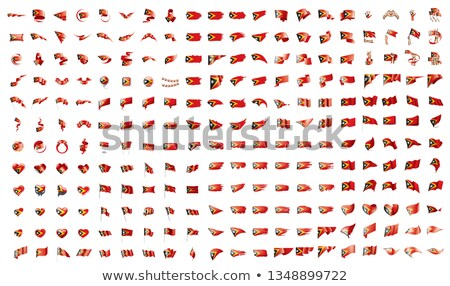 very big collection of vector flags of the East Timor Stock photo © butenkow