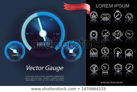 Ayarlamak araba gösterge paneli elemanları hızölçer yakıt Stok fotoğraf © evgeny89
