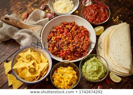 растительное белый различный мексиканская кухня боб Сток-фото © dash