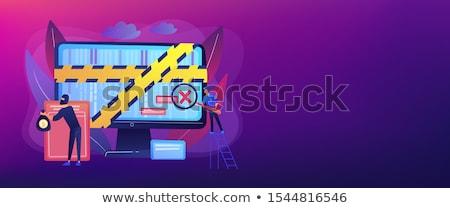 Computer banner aanval rechtshandhaving crimineel Stockfoto © RAStudio