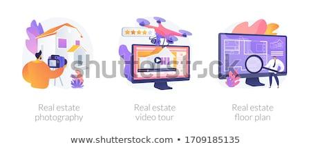 Onroerend virtueel tour abstract huis makelaar Stockfoto © RAStudio