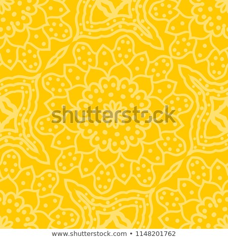 Geometric artdeco line style seamless floral pattern. Stock photo © yopixart