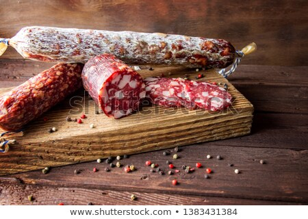 Mold on the dry salami Stock photo © grafvision