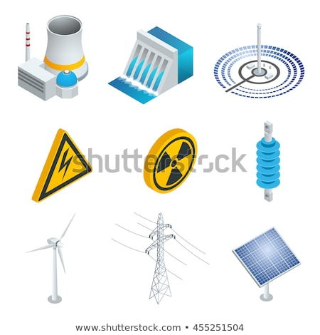 Generating Atomic Plant isometric icon vector illustration Stock photo © pikepicture