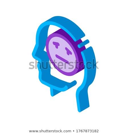 Hombre melancolía icono vector Foto stock © pikepicture