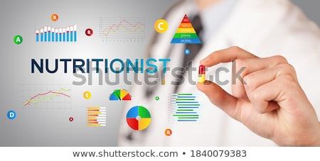 Voedingsdeskundige pil antioxidant opschrift voedsel Stockfoto © ra2studio