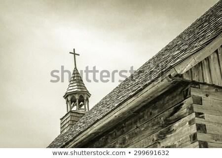 cristão · atravessar · stonewall · igreja · velho - foto stock © ansonstock