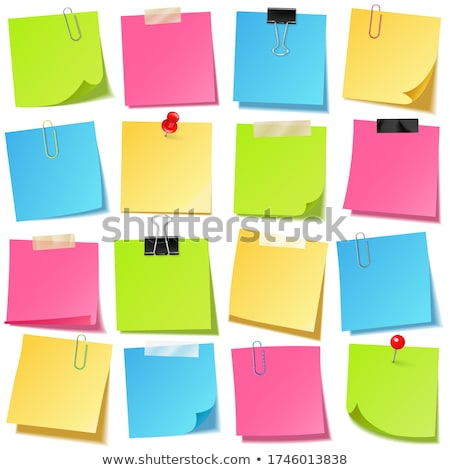 groene · paperclip · geïsoleerd · witte · plastic · macro - stockfoto © ansonstock