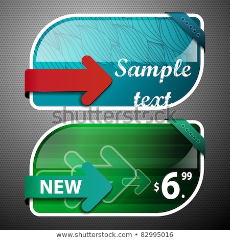 Foto d'archivio: Red And Green Sale Coupons