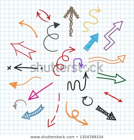 conjunto · colorido · indicação · item · papel - foto stock © orson