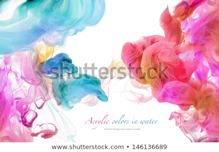 Stock photo: Multi Color Ink Drop