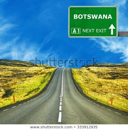 Botswana signe de route vert nuage rue signe Photo stock © kbuntu