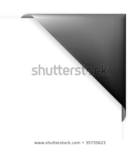 Black corner holder Stock photo © orson