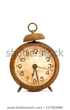 antique rusted alarm clock stock photo © akhilesh