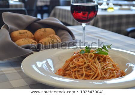 Broodmand pasta basiliek plaat voedsel Stockfoto © premiere