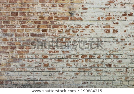 Background with old red painted brick wall Stock photo © H2O