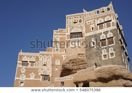 traditional architecture in sanaa yemen stock photo © travelphotography