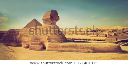 エジプト人 · ピラミッド · ギザ · 砂漠 · 日没 · 空 - ストックフォト © lypnyk2
