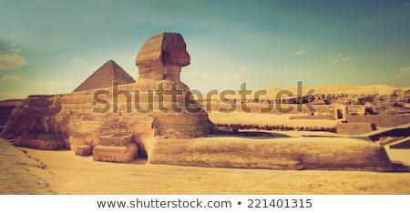 vintage background with egyptian pyramids stock photo © lypnyk2