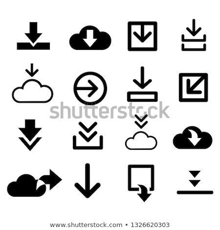 cloud button icon stock photo © mikemcd