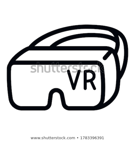 vector silhouette head with rift on white background Stock photo © basel101658