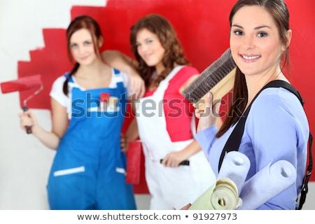 Trio of female decorators Stock photo © photography33