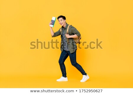 male backpacker in studio stock photo © photography33