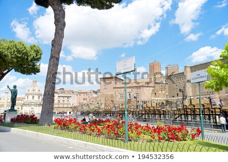 street sign Fori Imperiali in Rome, Italy Stock photo © vladacanon
