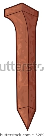 Rusty Iron Railroad Spikes Stock photo © Kacpura