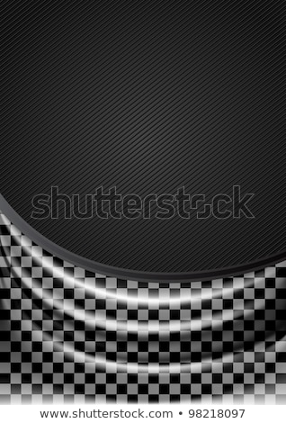 Curtain, silk tissue on checkered background Stock photo © Ecelop