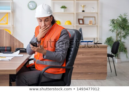 architect puzzled at sms Stock photo © photography33